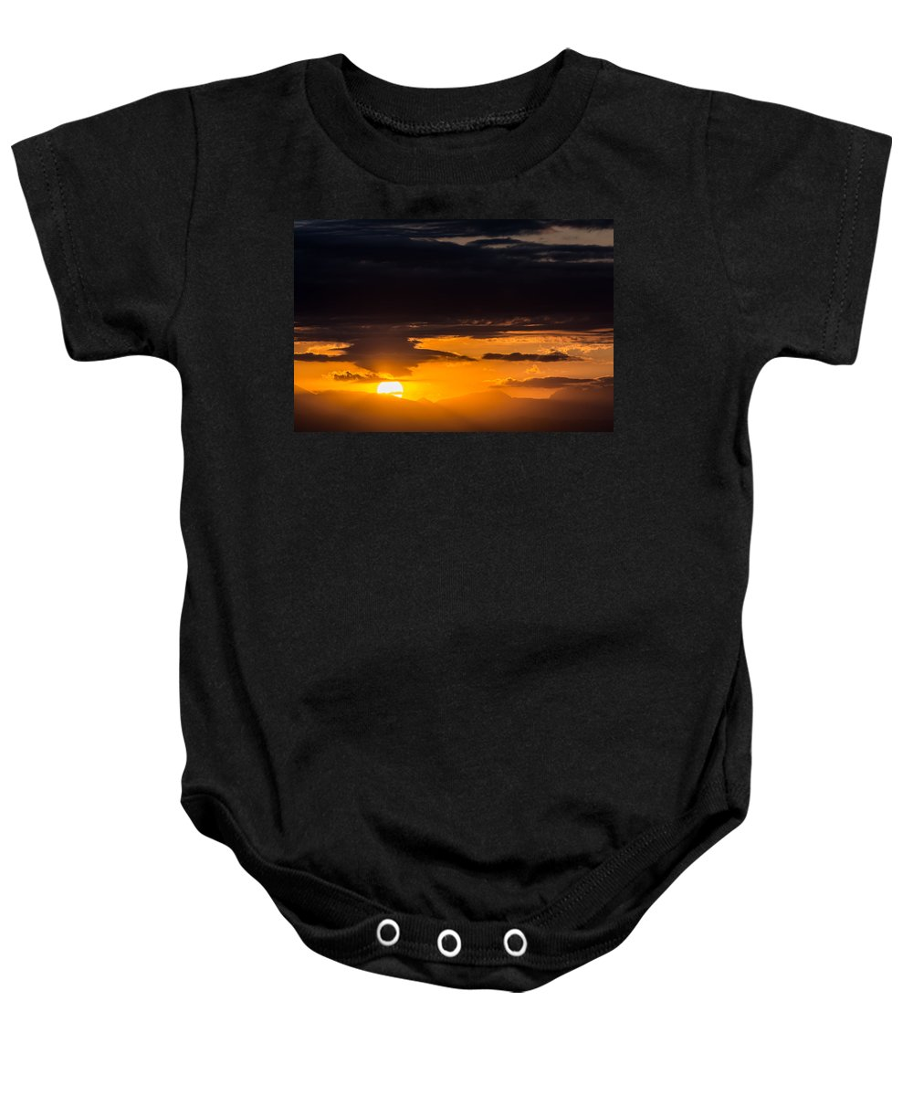 Photo Baby Onesie featuring the photograph Day Is Done by Colleen Coccia