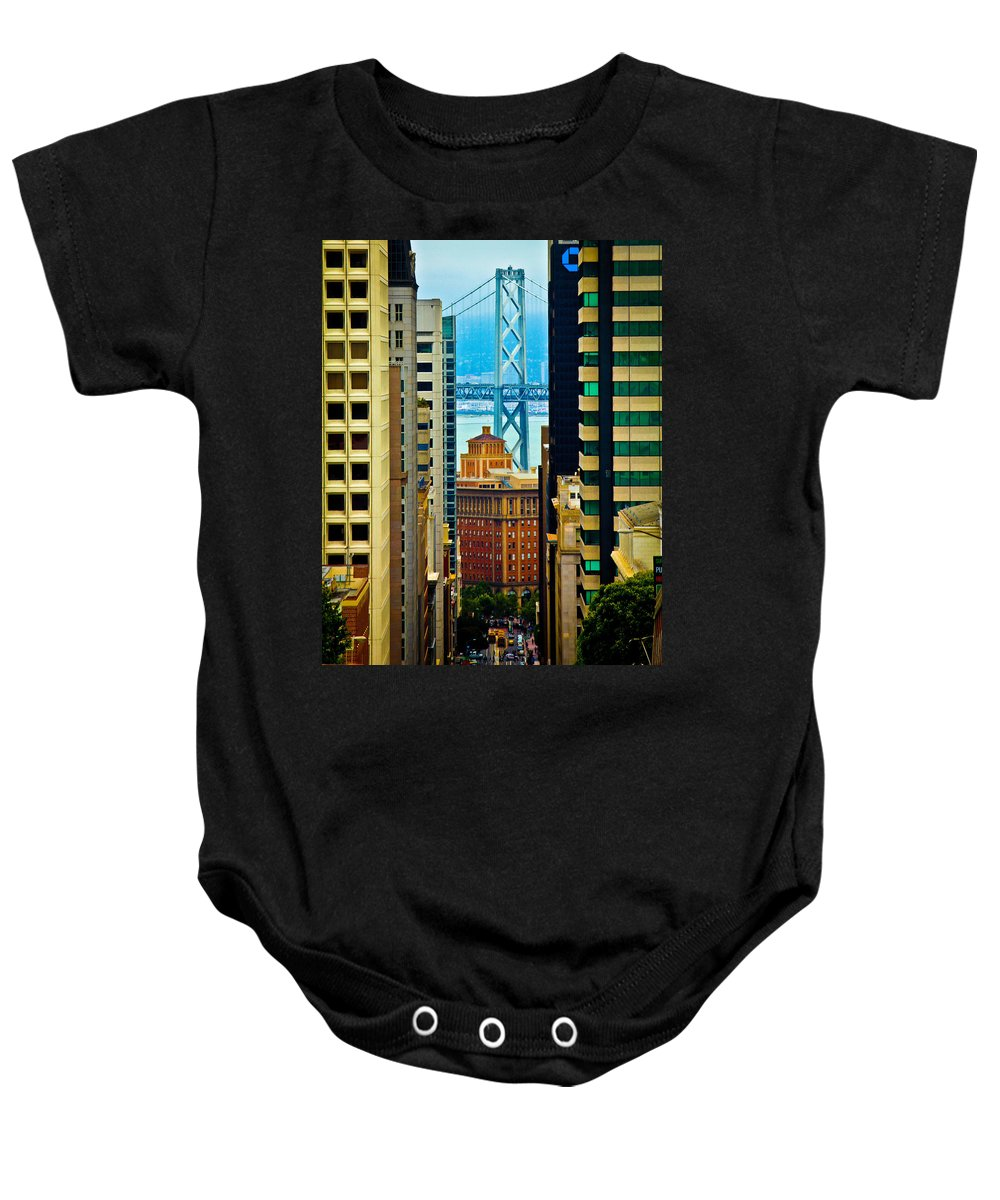 Streets Of San Francisco Baby Onesie featuring the photograph Down To The Bay by Digital Kulprits