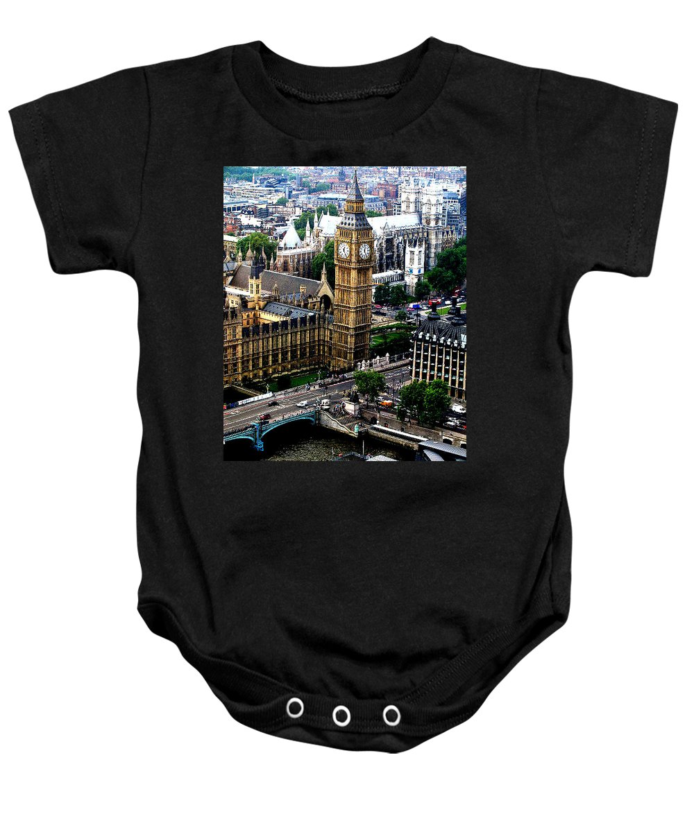 Travel Baby Onesie featuring the photograph From The Eye Big Ben by Jay Milo