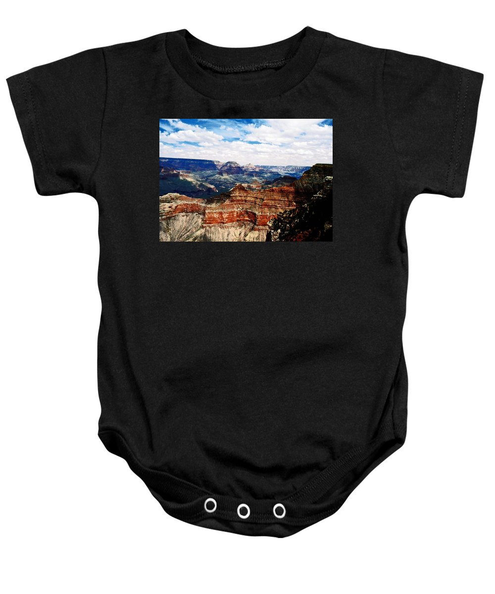 Arizona Baby Onesie featuring the photograph Grand Canyon by Gary Wonning