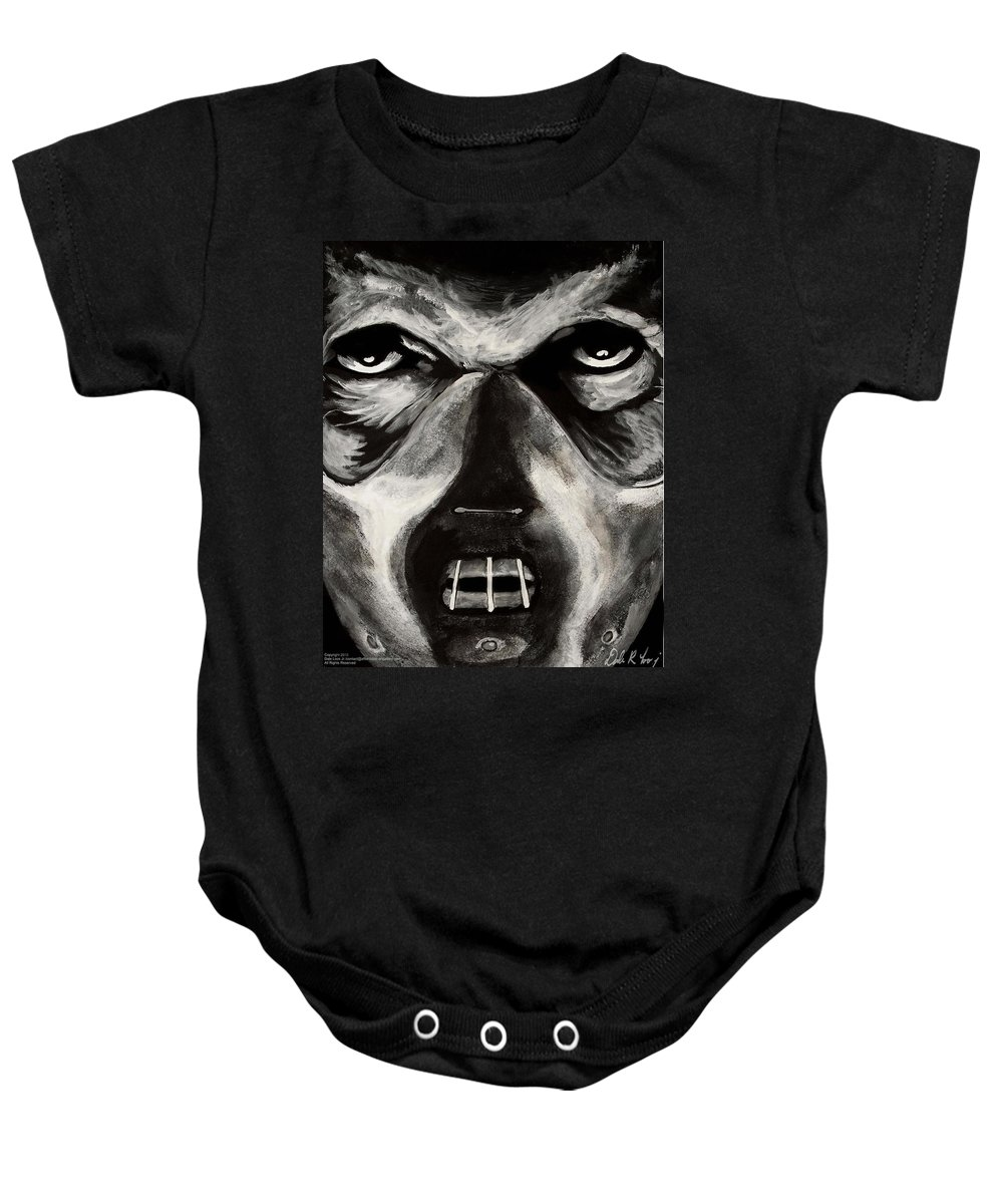 Hannibal Baby Onesie featuring the painting Hannibal by Dale Loos Jr