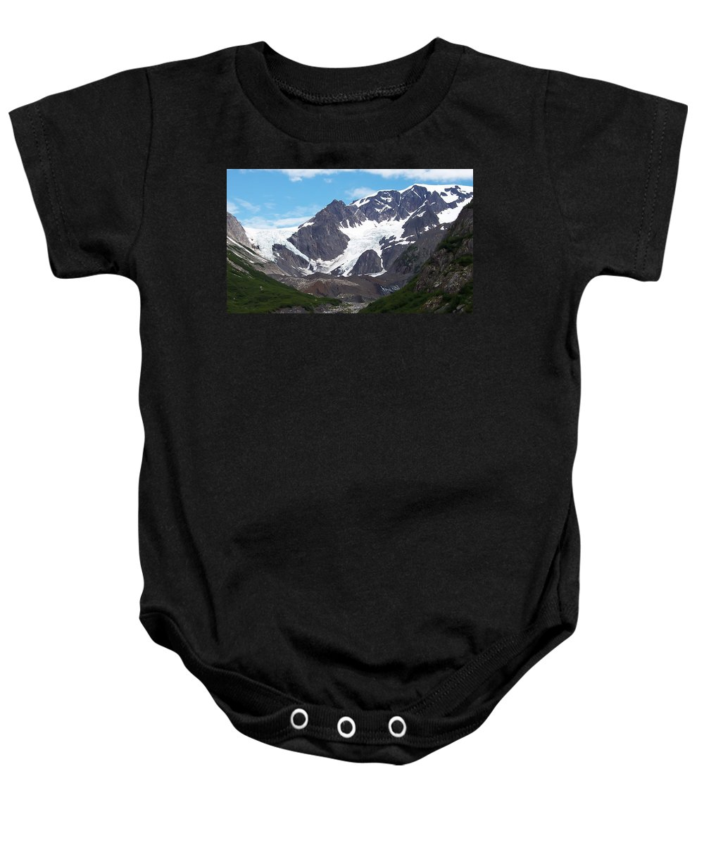 Alaska.snow Baby Onesie featuring the photograph Ice And Snow by Aimee L Maher ALM GALLERY