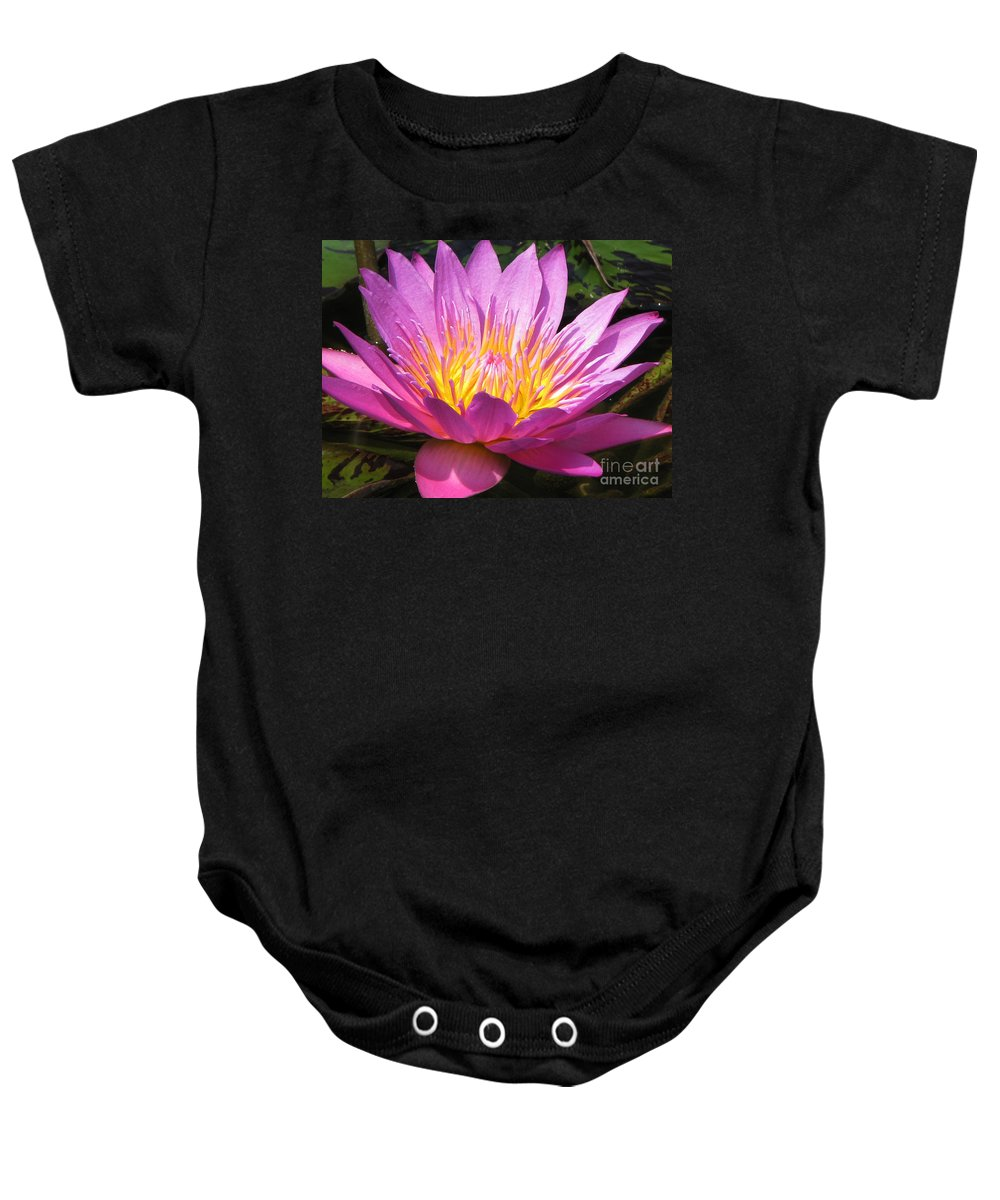 Lilly Baby Onesie featuring the photograph It by Amanda Barcon