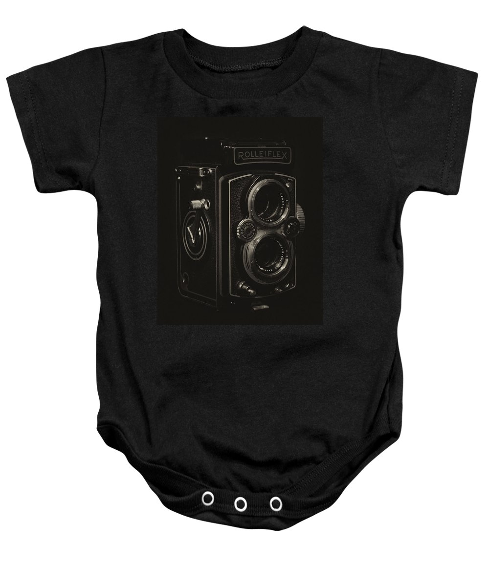 Rolleiflex Baby Onesie featuring the photograph Rolleiflex by Leah Palmer
