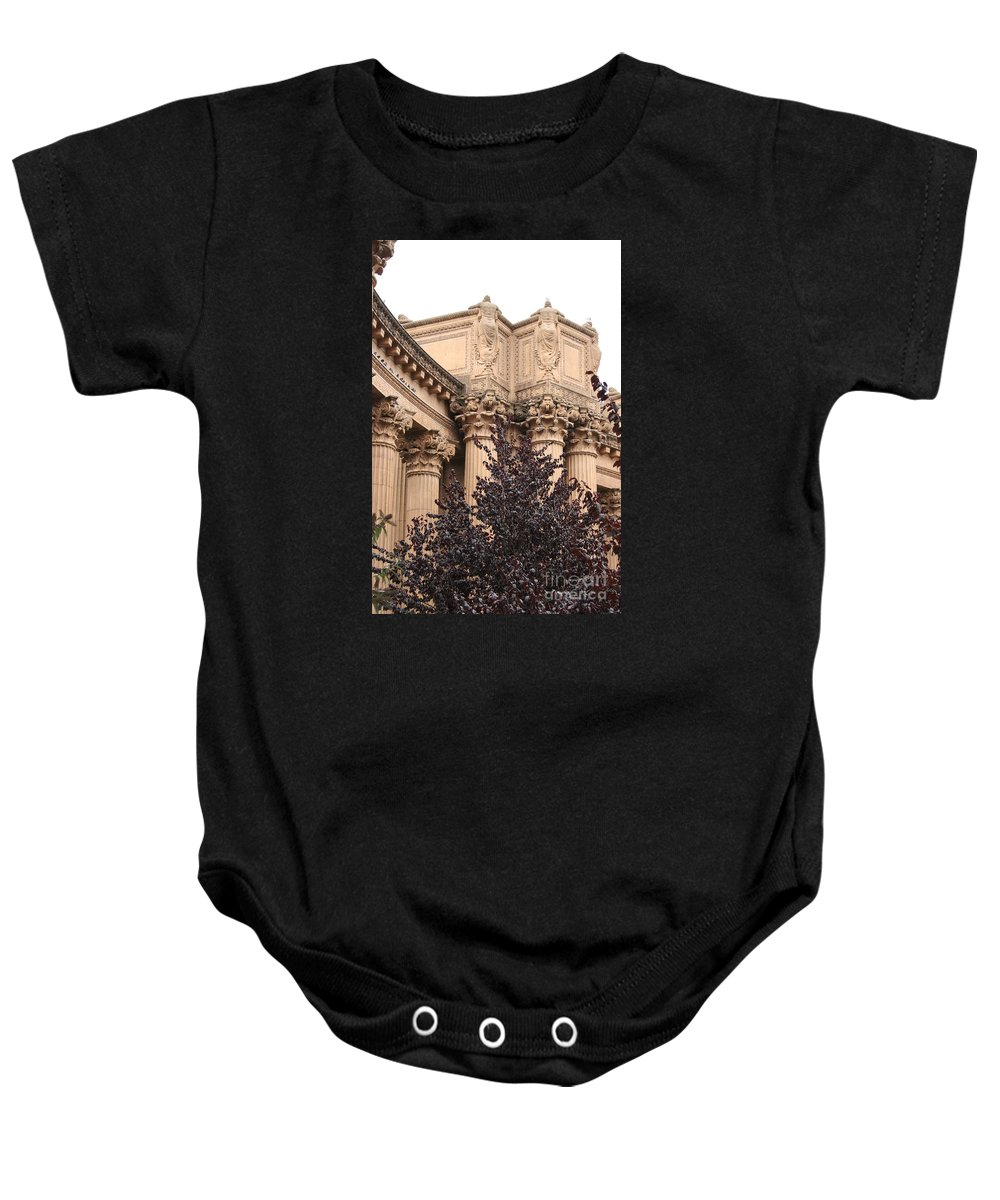 San Francisco Baby Onesie featuring the photograph San Francisco - Palace Of Fine Arts by Christiane Schulze Art And Photography
