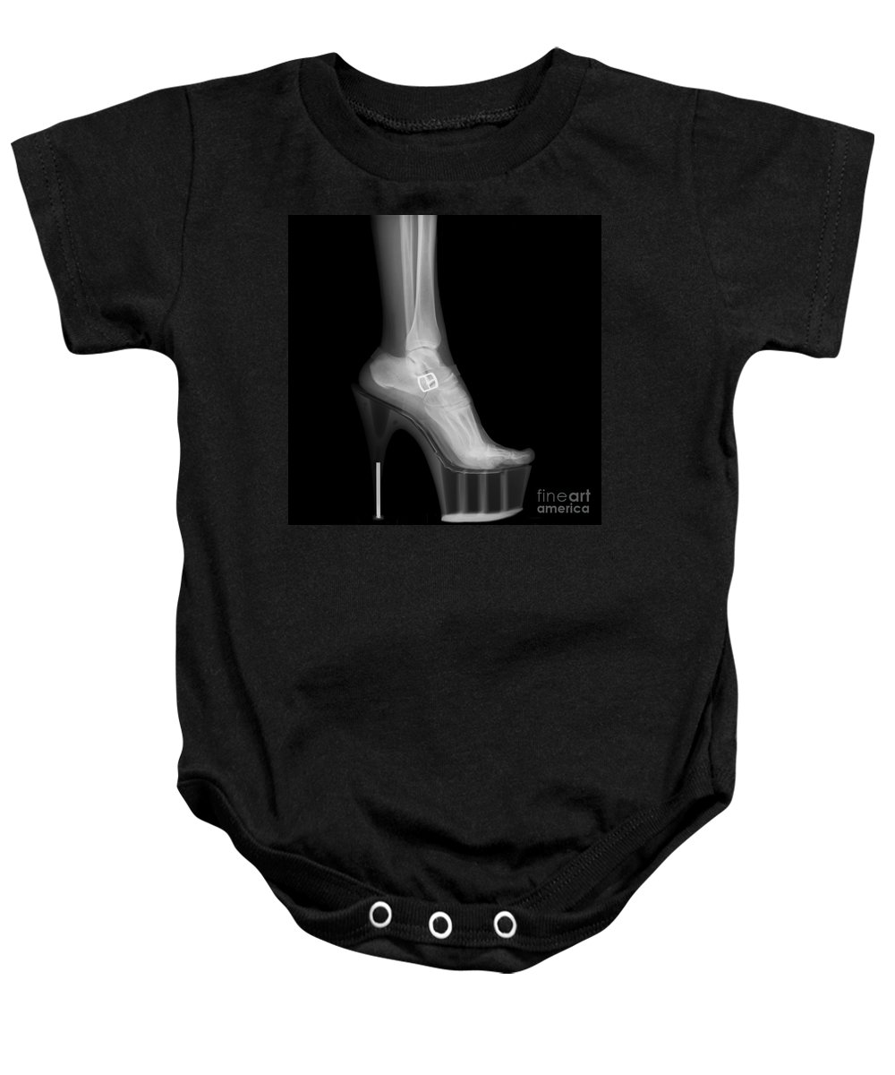 Stiletto Baby Onesie featuring the photograph Stiletto High-heeled Shoe by Guy Viner
