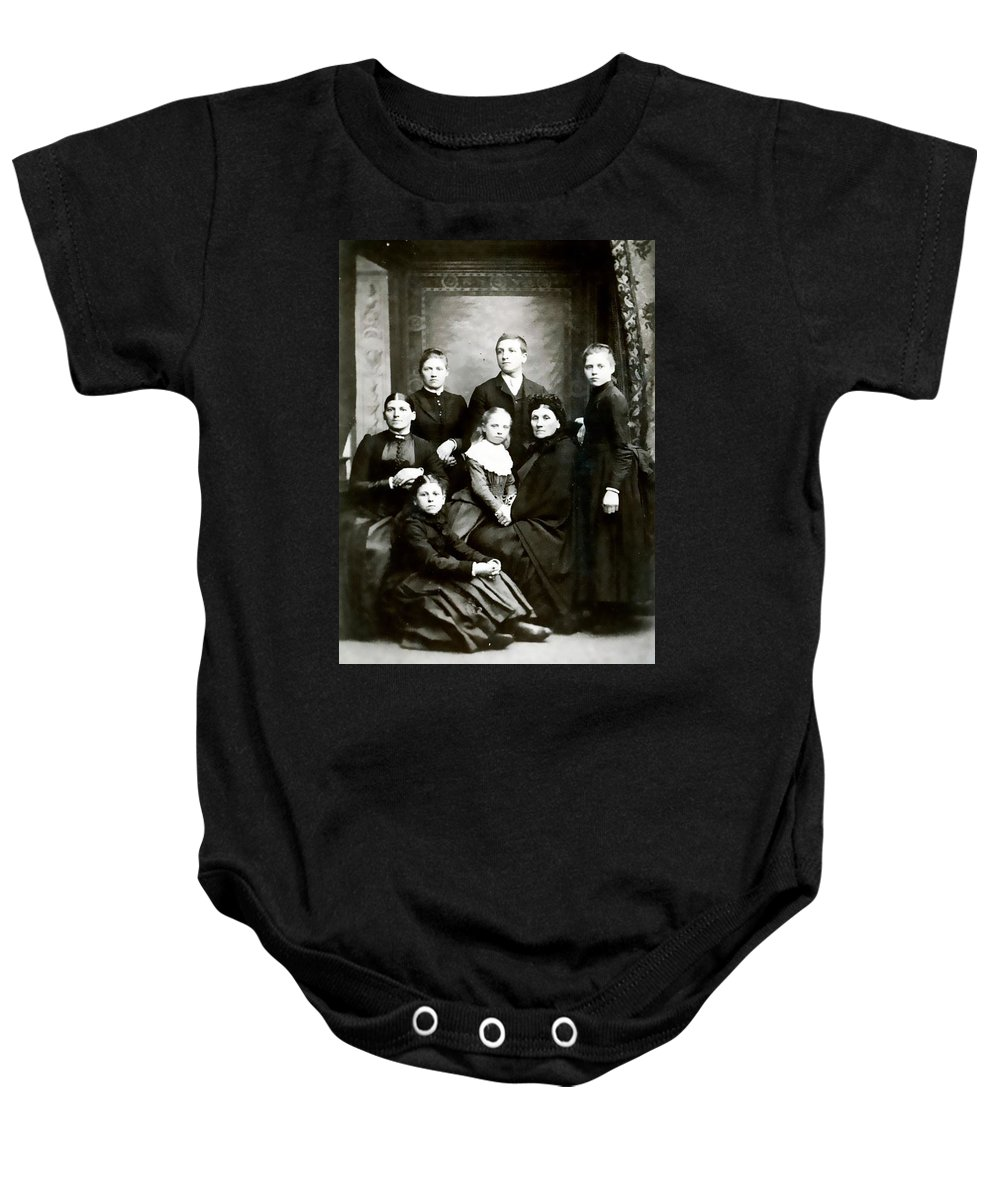 Vintage Baby Onesie featuring the photograph The Family by Image Takers Photography LLC