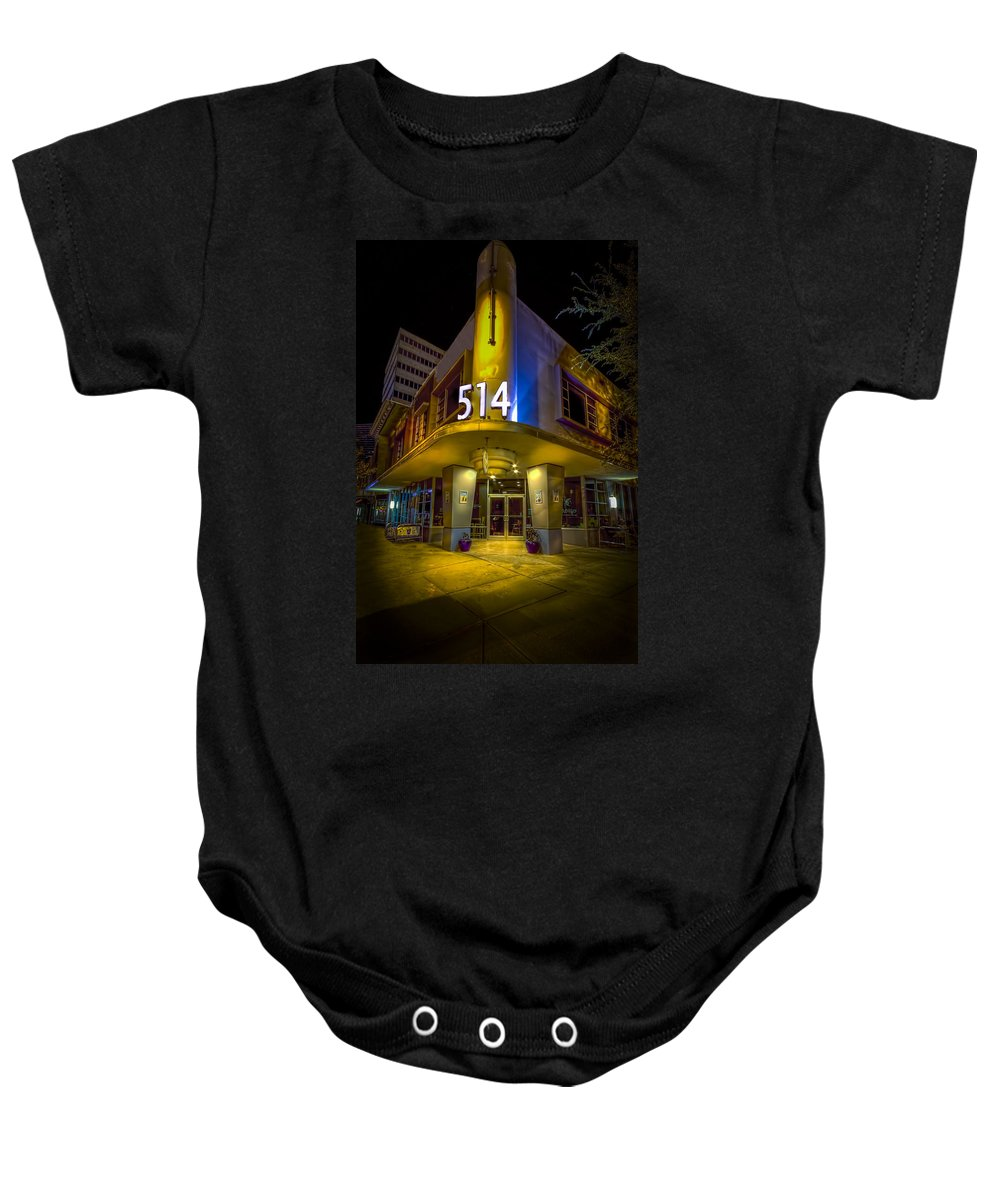 Twiggs Street Baby Onesie featuring the photograph Twiggs 514 Indigo by Marvin Spates