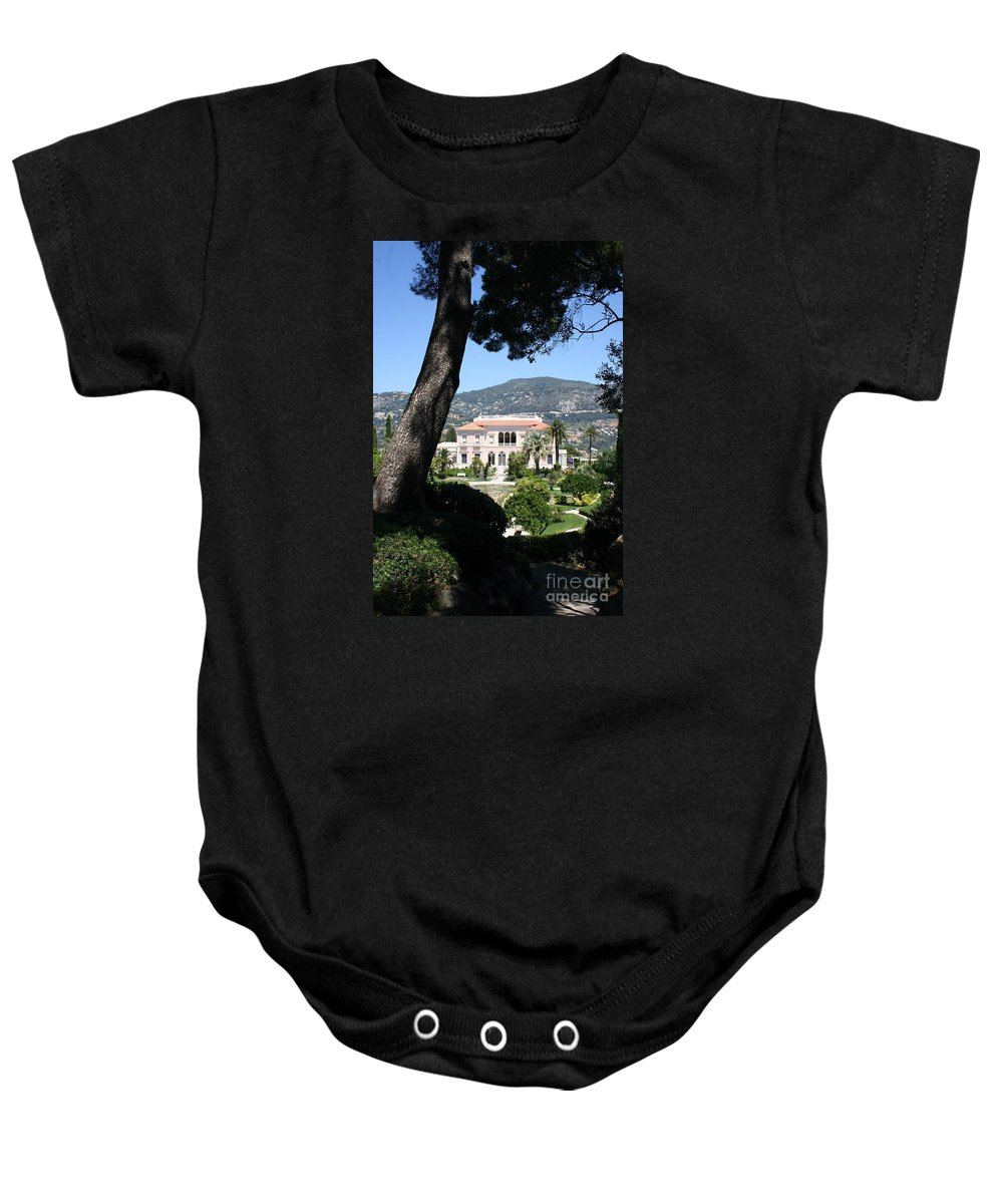 Villa Baby Onesie featuring the photograph Villa Ephrussi De Rothschild by Christiane Schulze Art And Photography