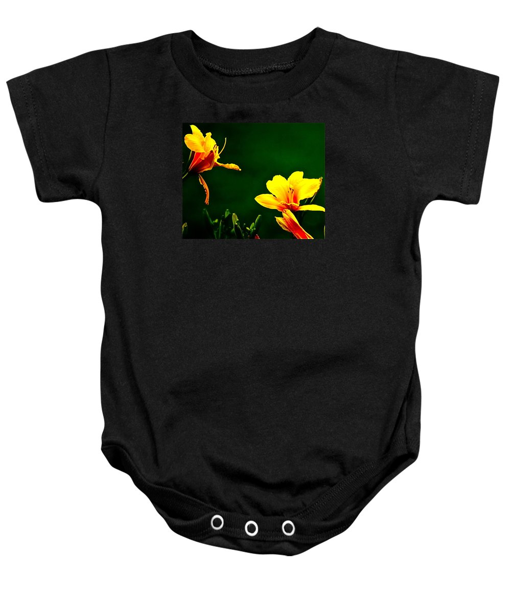 Flowers Baby Onesie featuring the photograph Talking Flower Heads by Tracy Rice Frame Of Mind