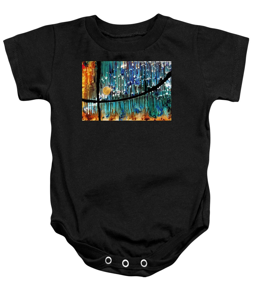 Colorful Painting Baby Onesie featuring the painting Colorful Abstract by Sharon Cummings