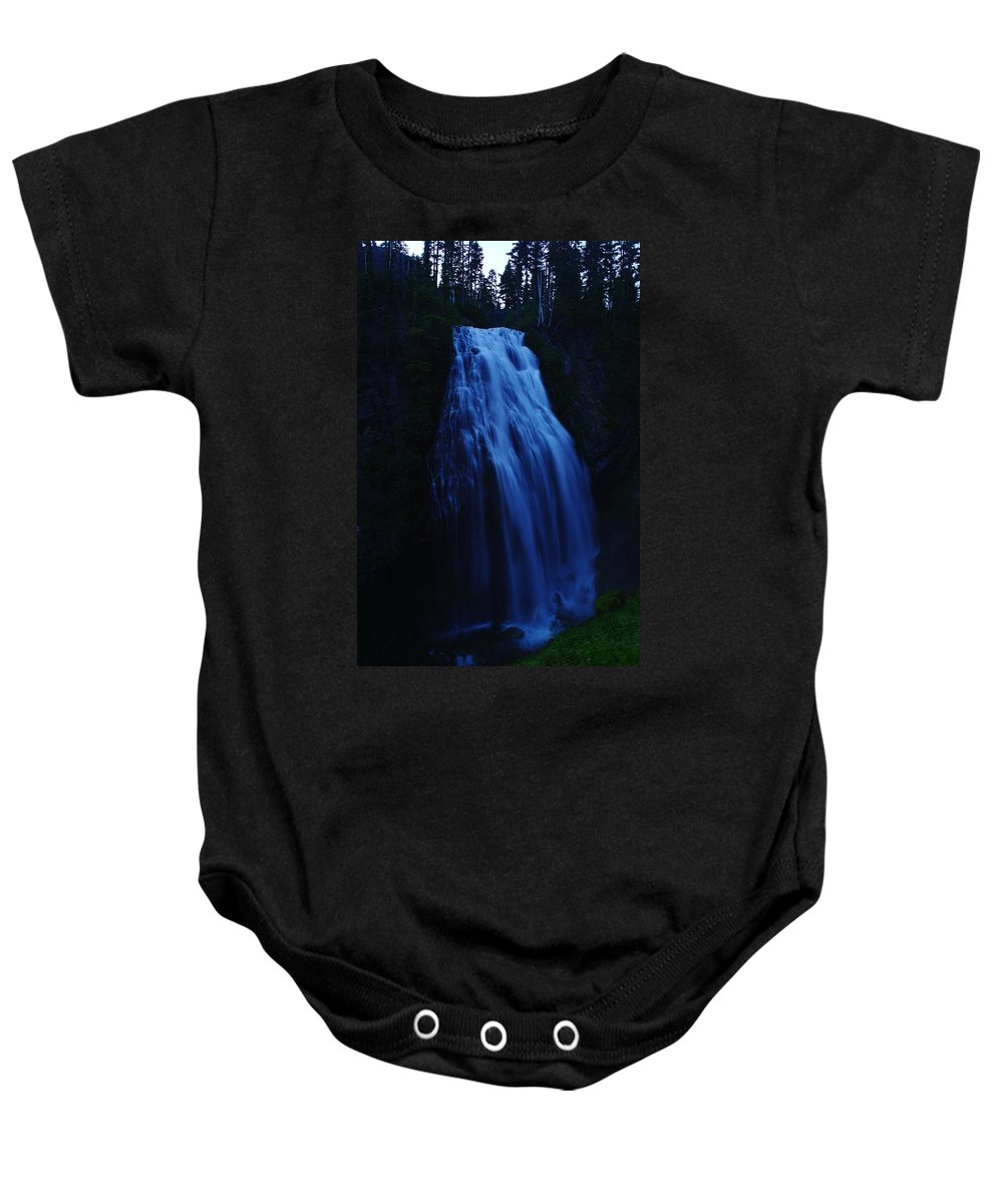 Waterfalls Baby Onesie featuring the photograph Narada Falls by Jeff Swan