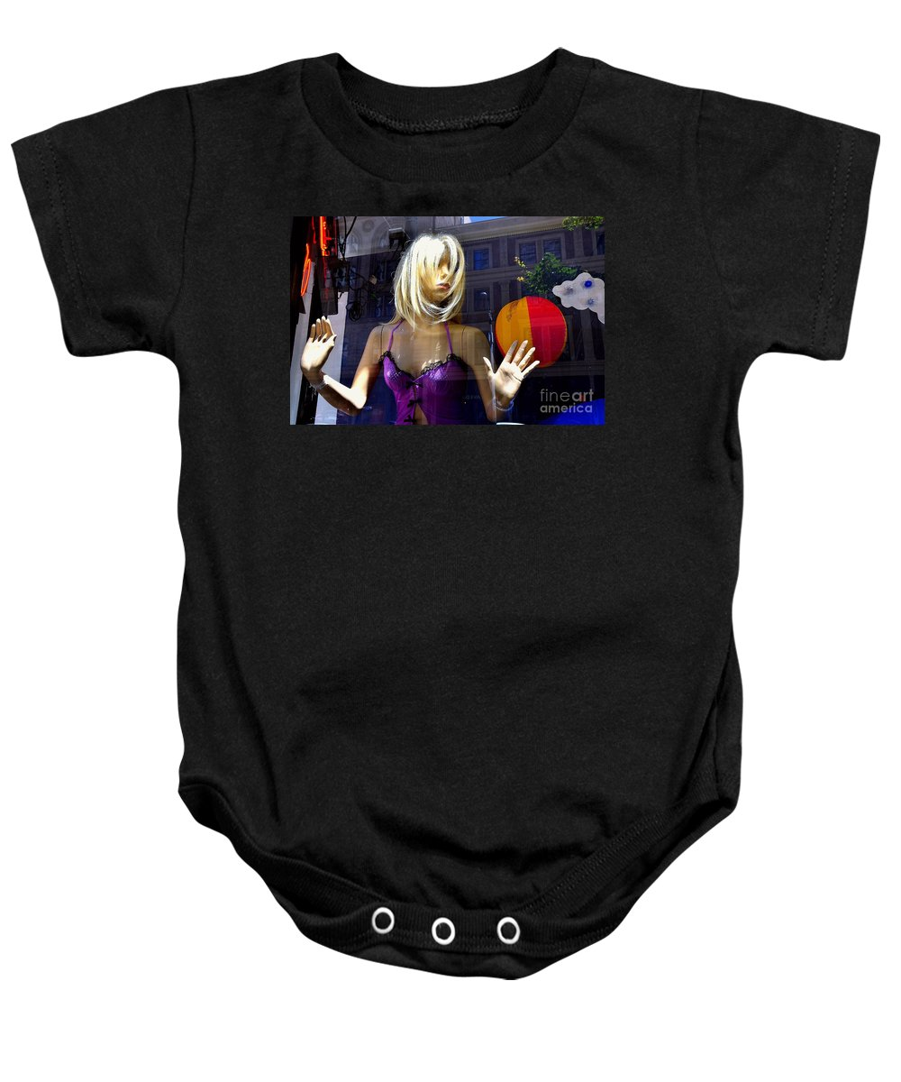 Abstract Baby Onesie featuring the photograph No Way Out by Lauren Leigh Hunter Fine Art Photography