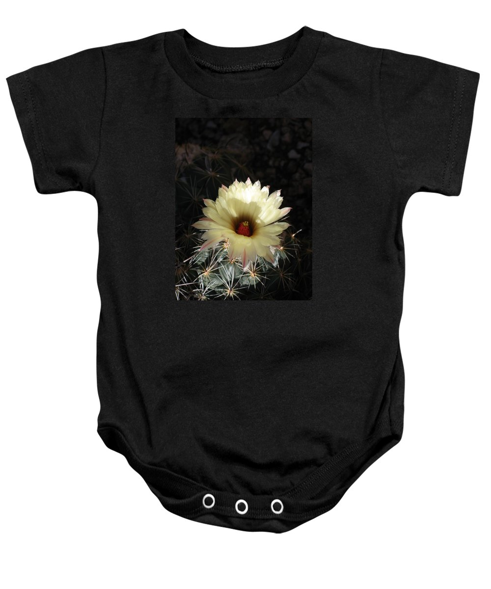 Cactus Baby Onesie featuring the photograph Pure Beauty by Christiane Schulze Art And Photography