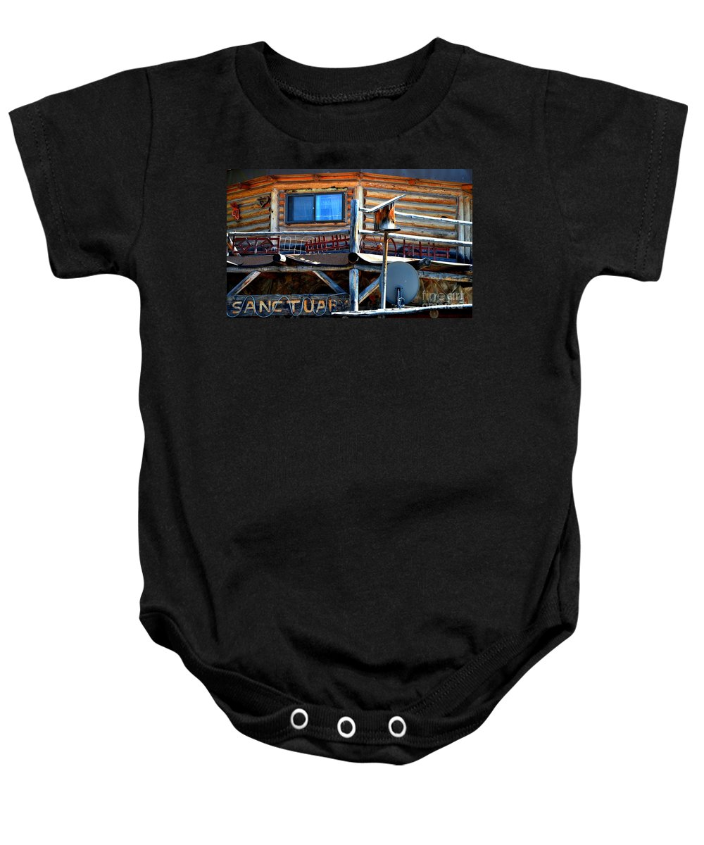 Abstract Baby Onesie featuring the photograph Sanctuary by Lauren Leigh Hunter Fine Art Photography