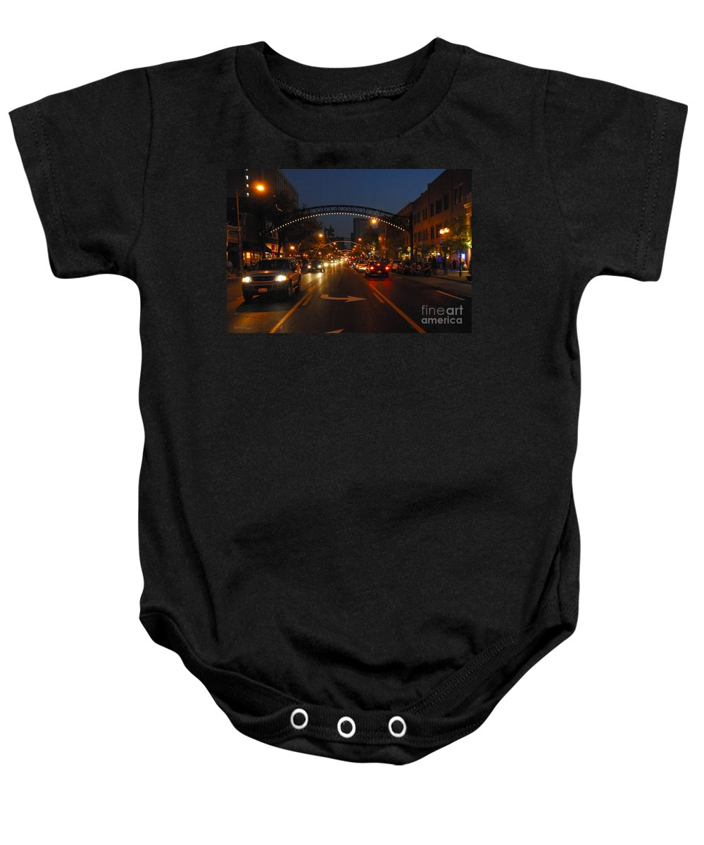 Short North Baby Onesie featuring the photograph D8l-152 Short North Gallery Hop Photo by Ohio Stock Photography