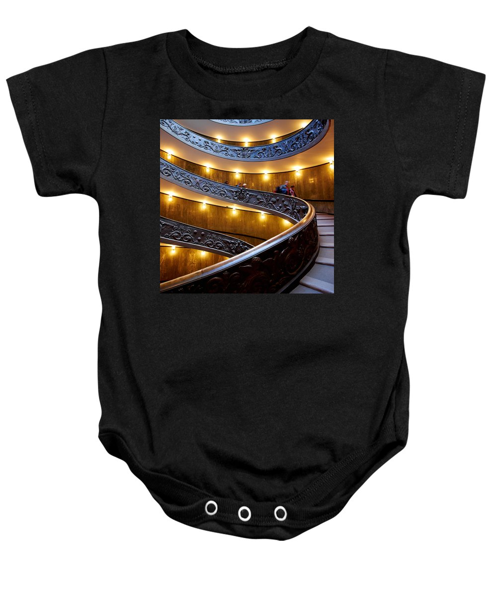 2013. Baby Onesie featuring the photograph The Vatican Stairs by Jouko Lehto