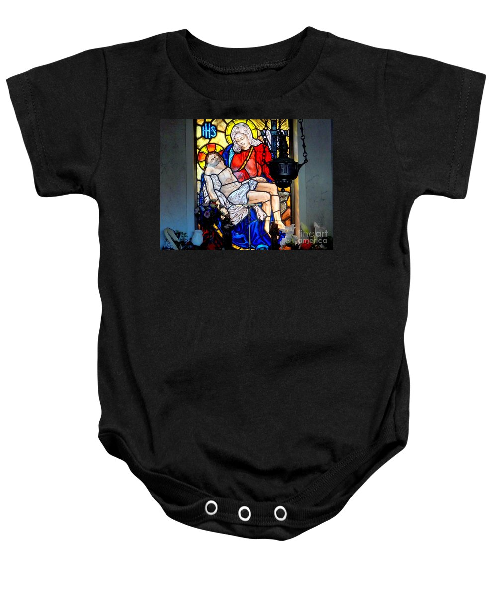 Stained Glass Baby Onesie featuring the photograph Untitled by Ed Weidman
