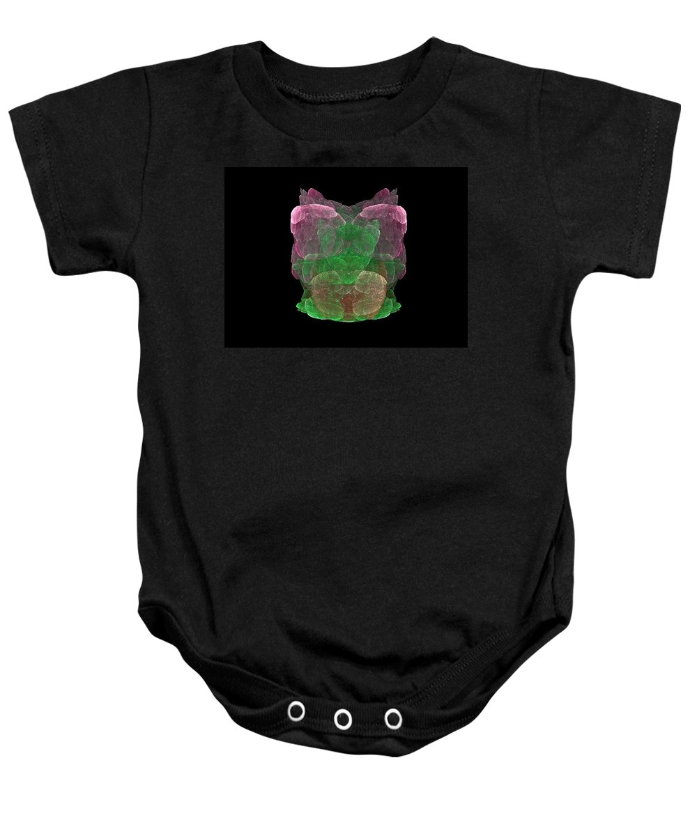 Fractals Baby Onesie featuring the painting What Do You See by Bruce Nutting