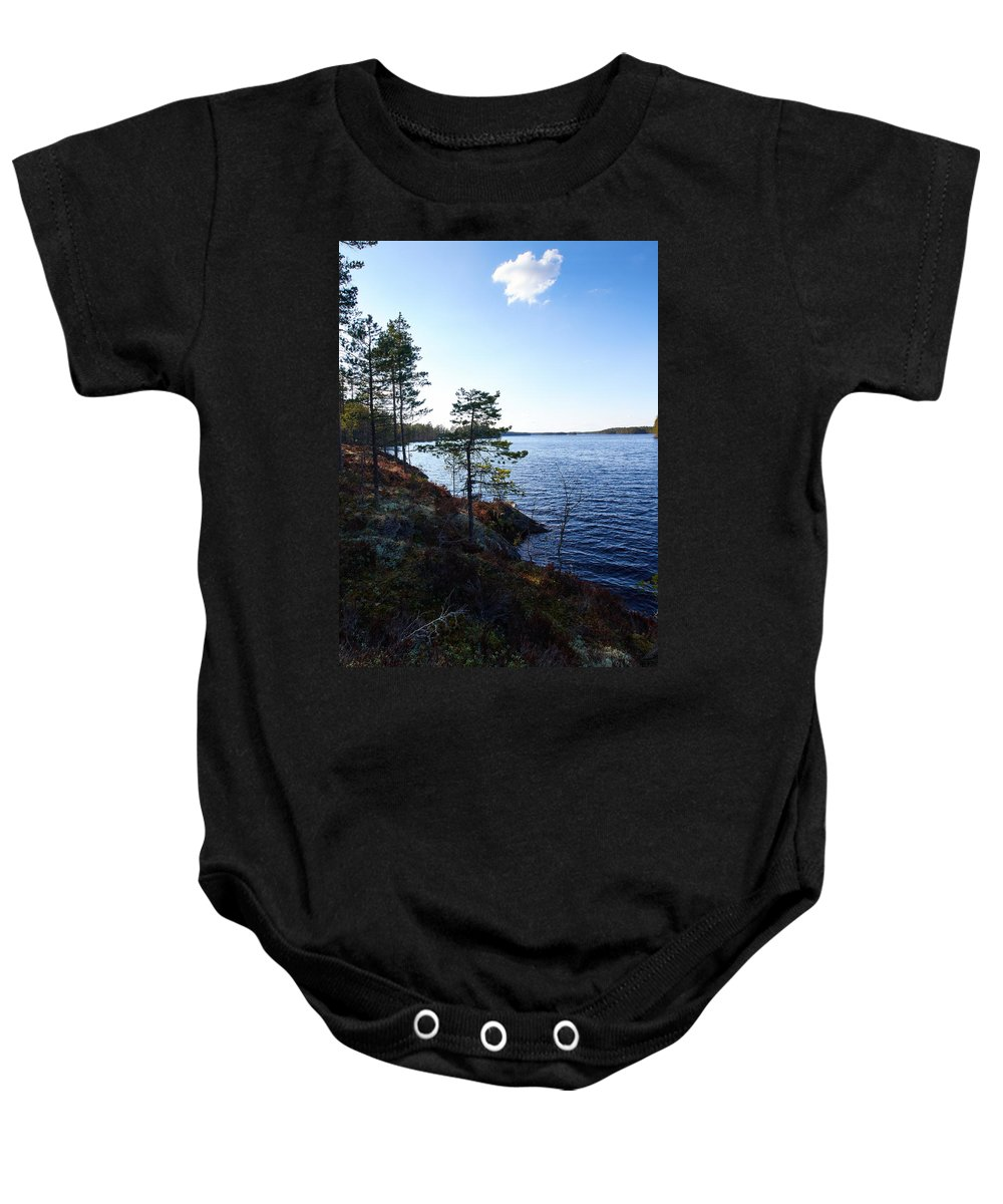 Lehto Baby Onesie featuring the photograph Haukkajarvi by Jouko Lehto
