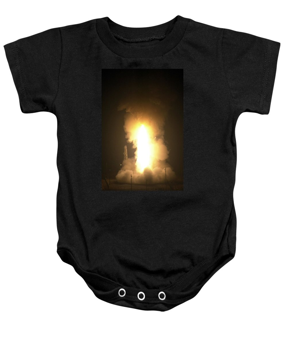 Missile Baby Onesie featuring the photograph Minuteman IIi Missile Test by Science Source