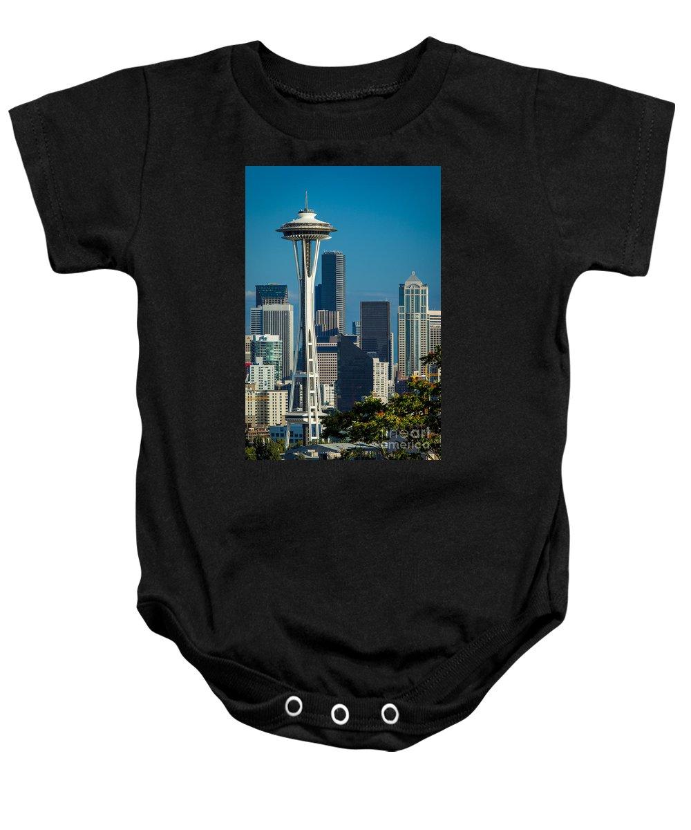 America Baby Onesie featuring the photograph Seattle Skyline by Brian Jannsen