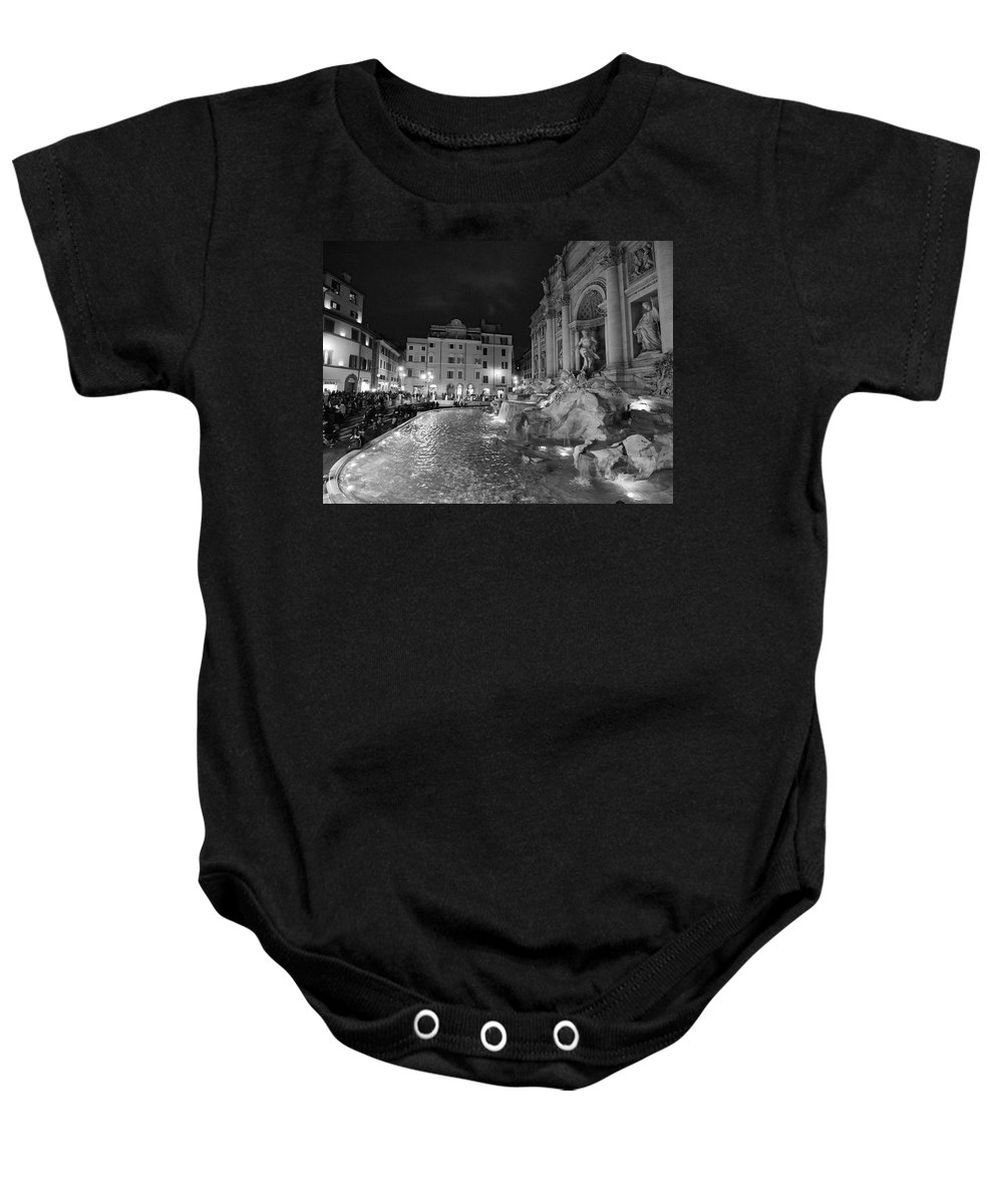 2013. Baby Onesie featuring the photograph Fontana Di Trevi by Jouko Lehto
