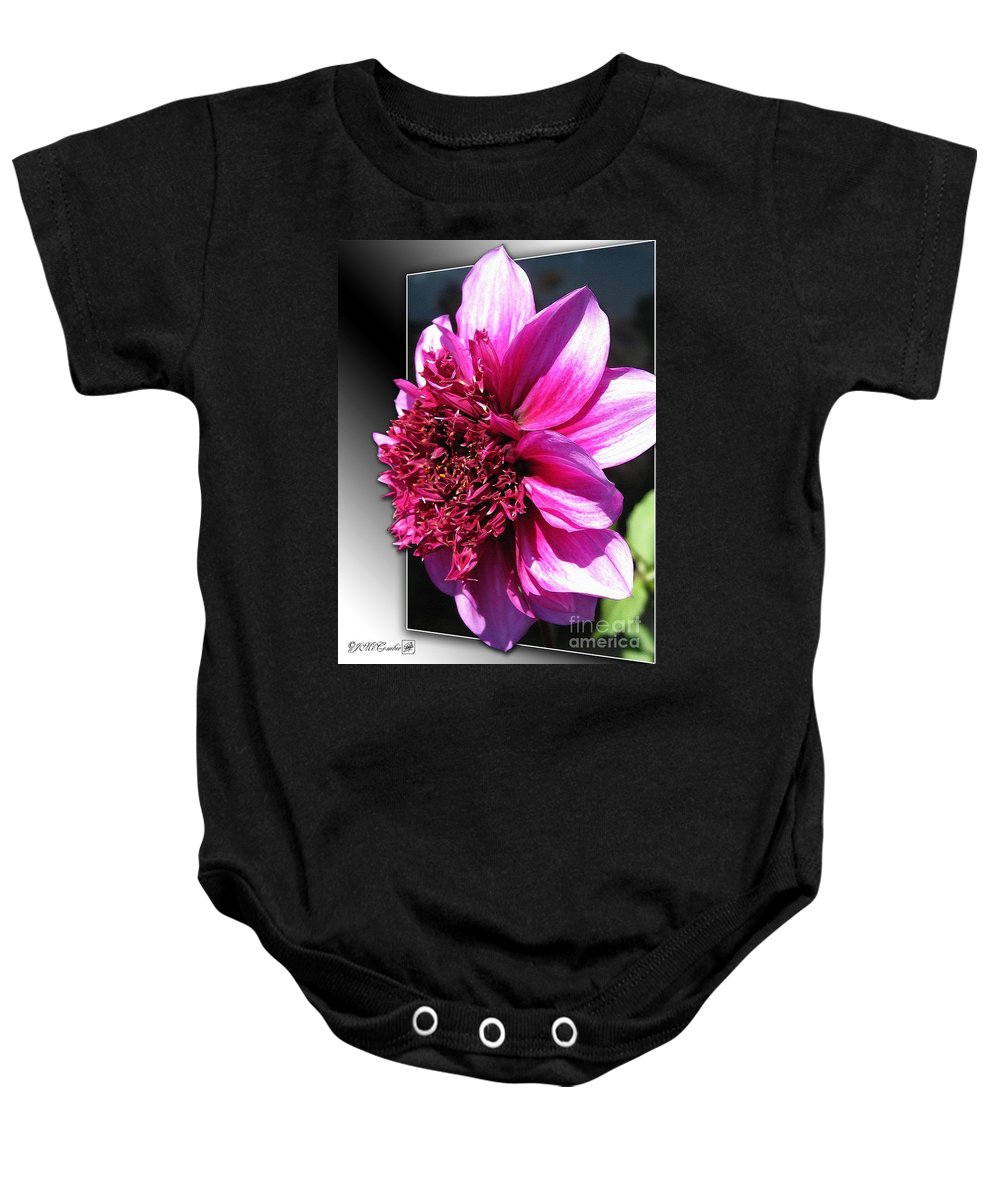 Dahlia Baby Onesie featuring the painting Dahlia Named Blue Bayou by J McCombie