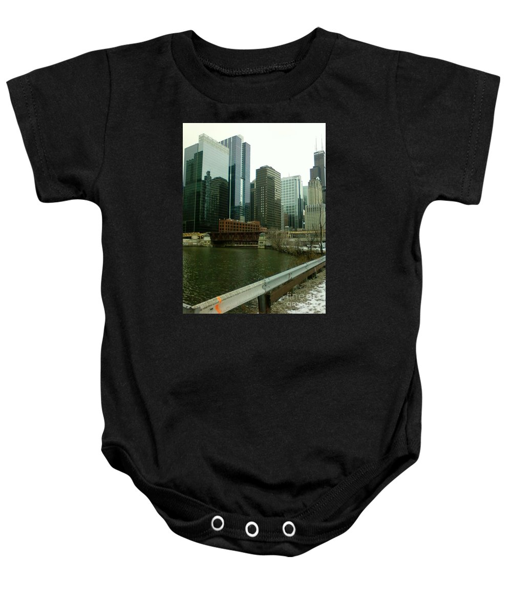 Chicago Baby Onesie featuring the photograph Lake Street Bridge by Alfie Martin