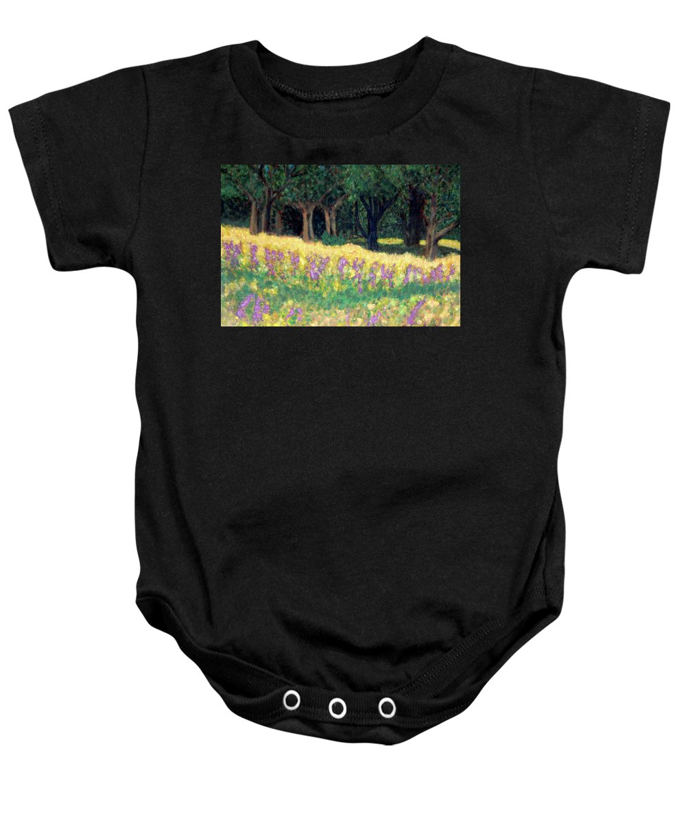 Texas Baby Onesie featuring the painting Texas Gold by Carolyn Donnell