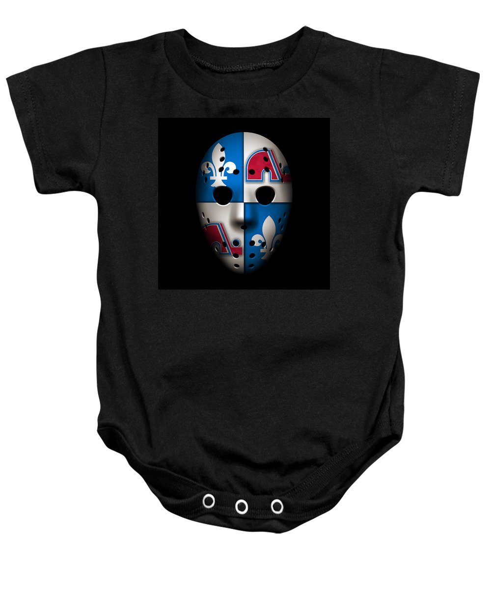 Nordiques Baby Onesie featuring the photograph Quebec Nordiques by Joe Hamilton