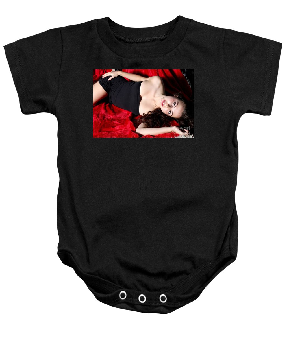 People Baby Onesie featuring the photograph Sexy Woman by Henrik Lehnerer