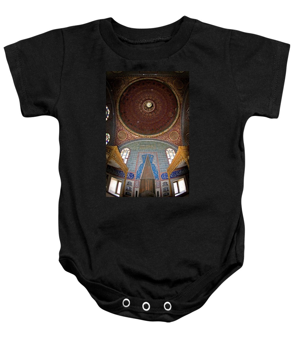 Topkapi Sarayi Palace Baby Onesie featuring the photograph Topkapi Sarayi Palace Istanbul Turkey by Dray Van Beeck