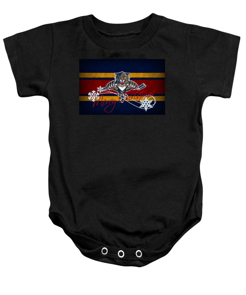 Panthers Baby Onesie featuring the photograph Florida Panthers by Joe Hamilton