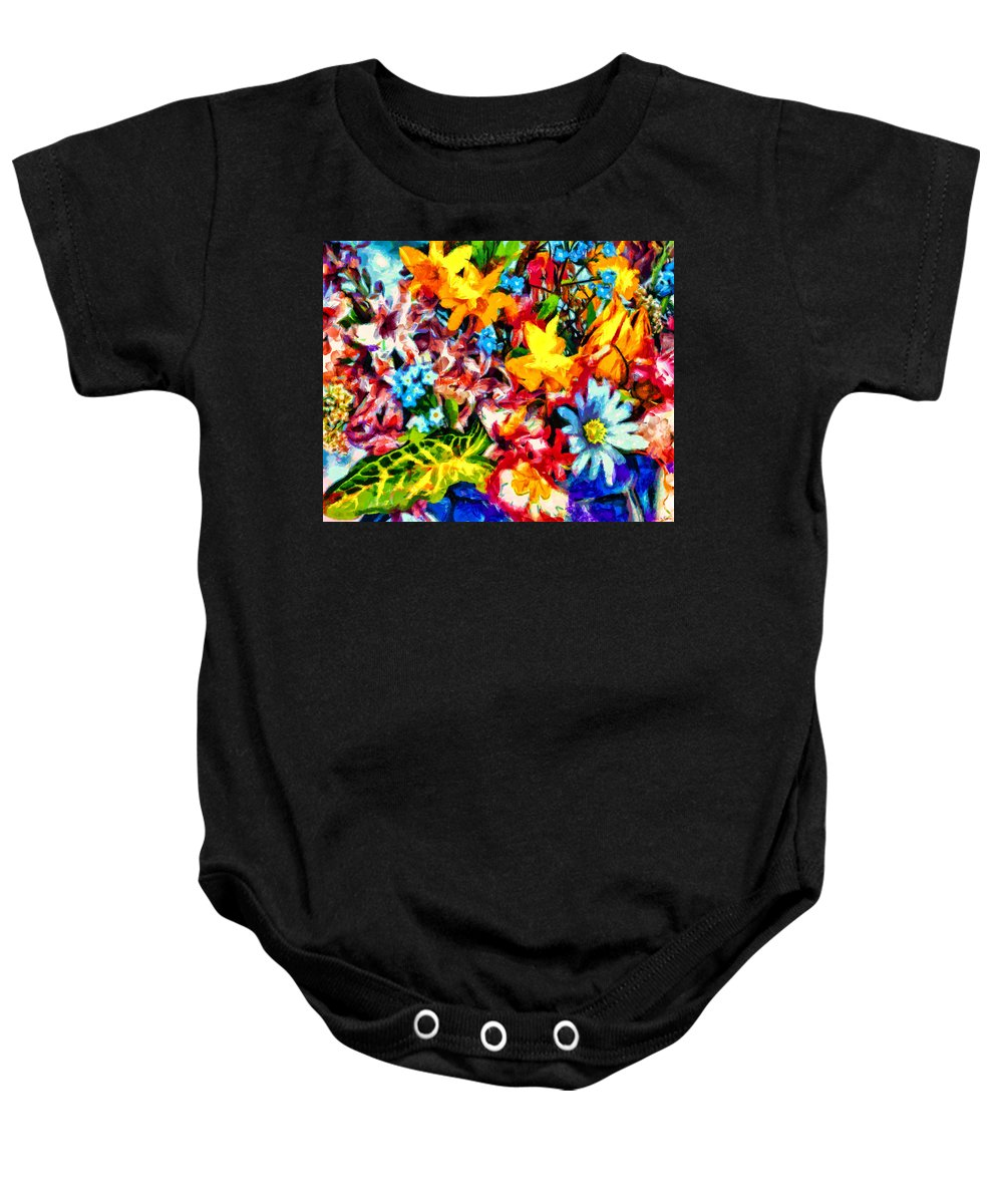 Midnight Streets Baby Onesie featuring the painting A Day In Spring by Joe Misrasi