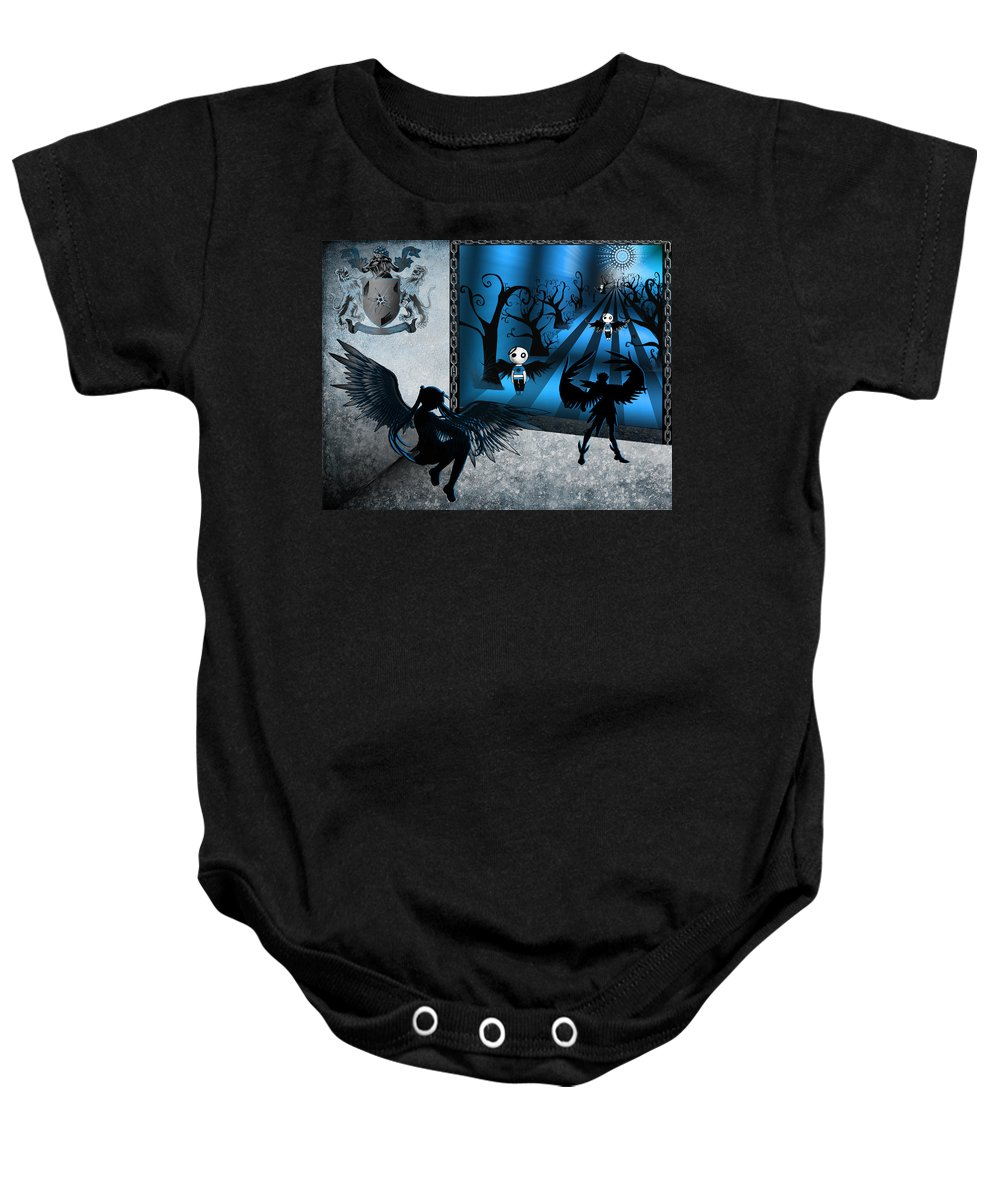 Blue Baby Onesie featuring the digital art A Little Hue Added by Teri Schuster