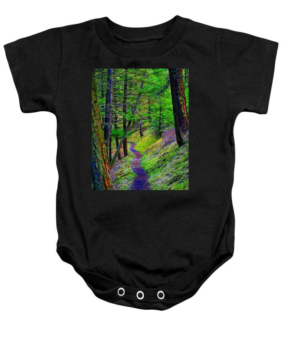 Photo Art Baby Onesie featuring the photograph A Magical Path To Enlightenment by Ben Upham III