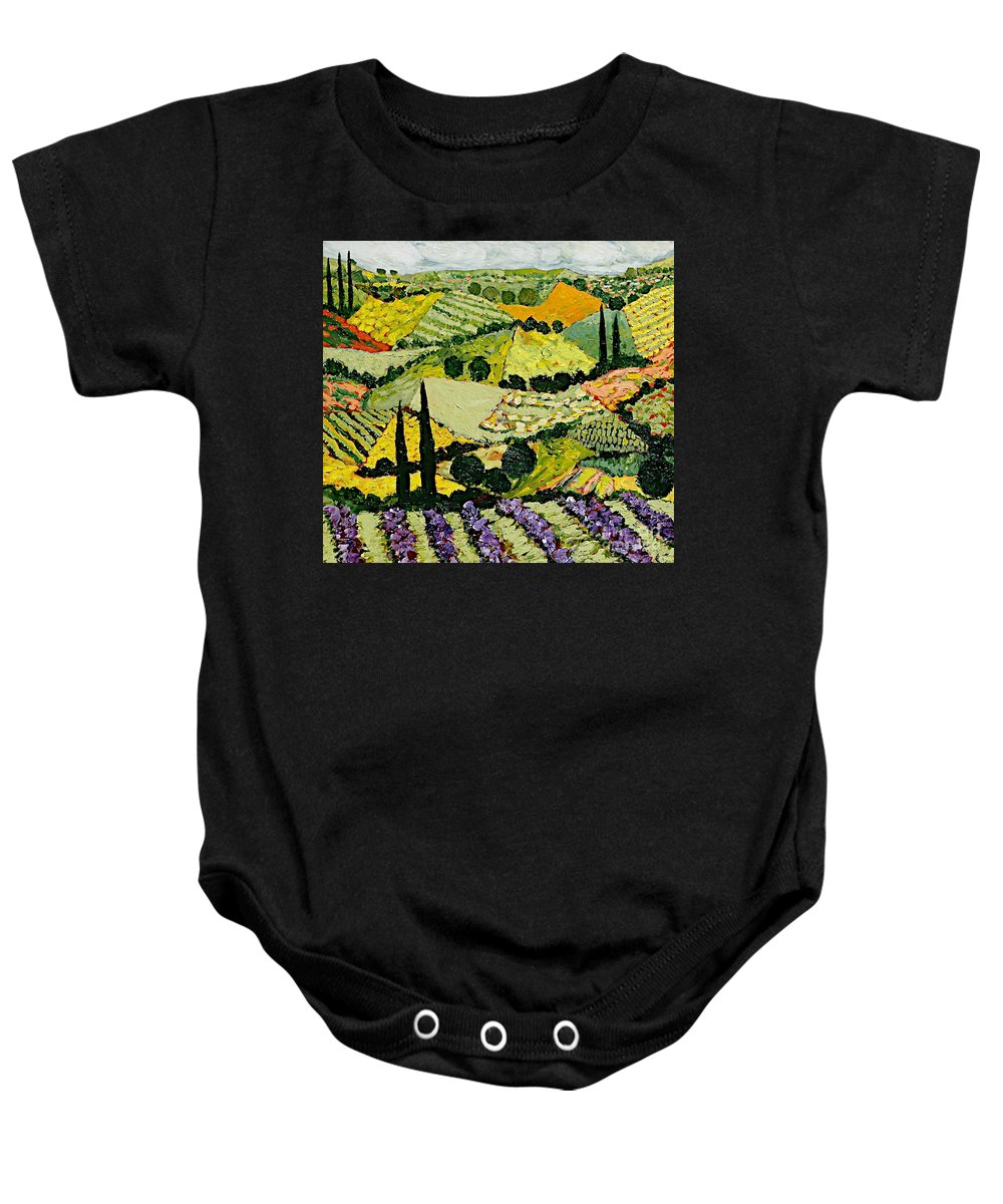 Landscape Baby Onesie featuring the painting A New Season by Allan P Friedlander
