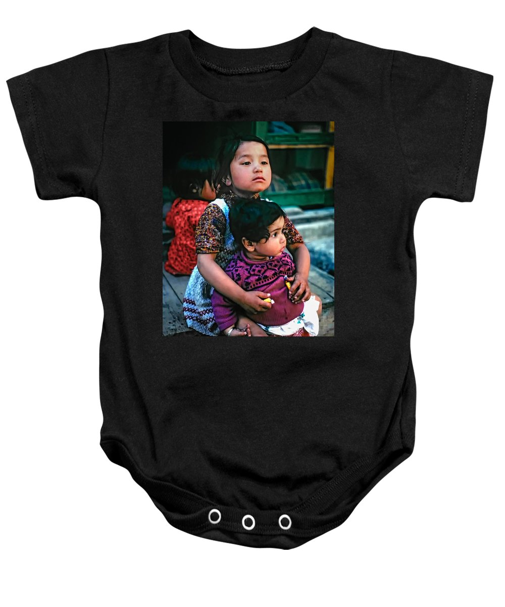 India Baby Onesie featuring the photograph A Proud Sister by Steve Harrington