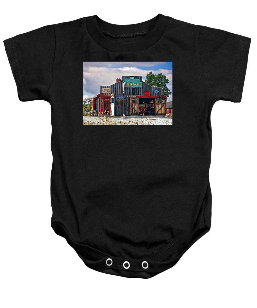 Oil Baby Onesie featuring the photograph A Simpler Time Painted Version by Steve Harrington
