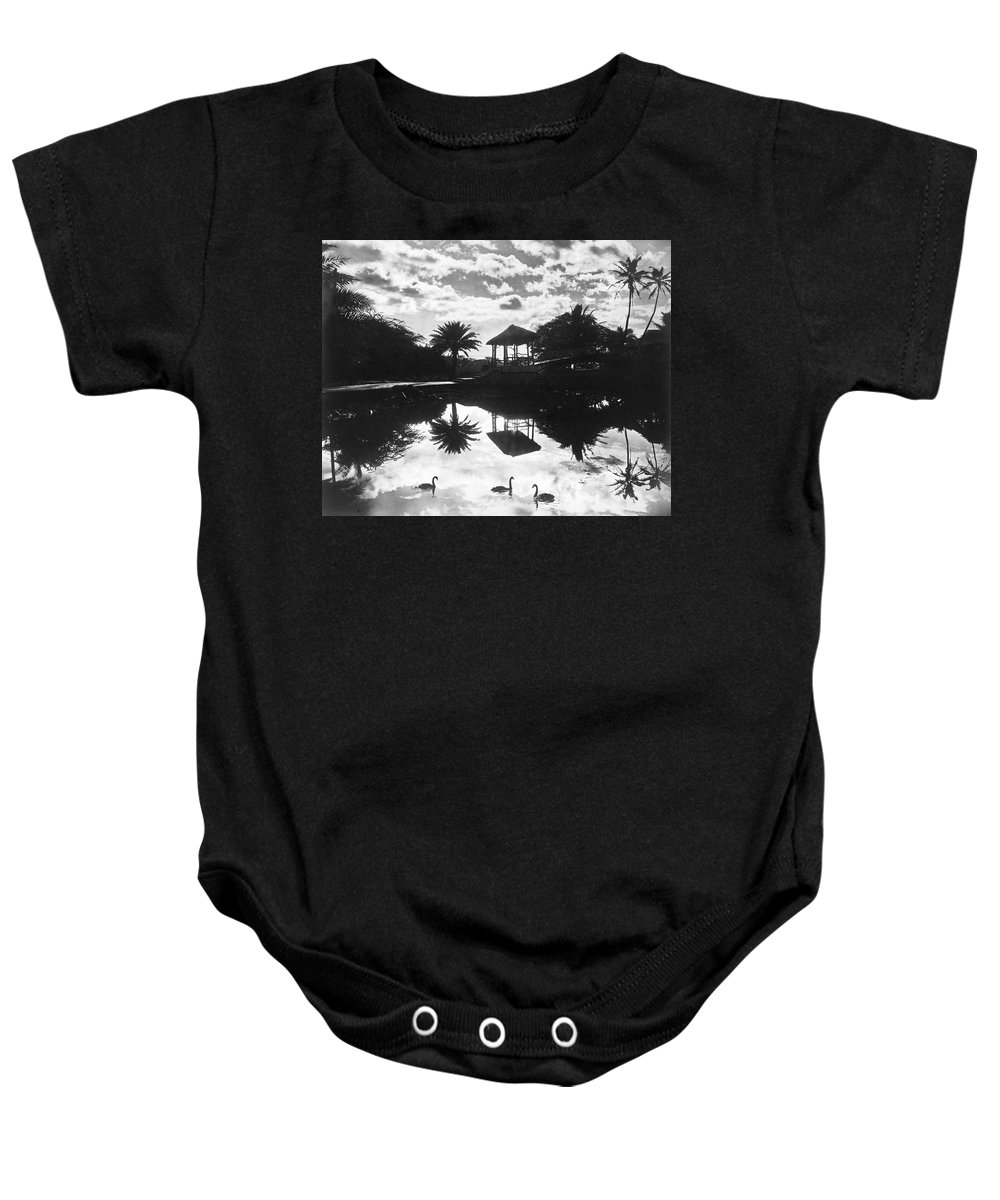 1930 Baby Onesie featuring the photograph A Tranquil Scene In Hawaii by Underwood Archives