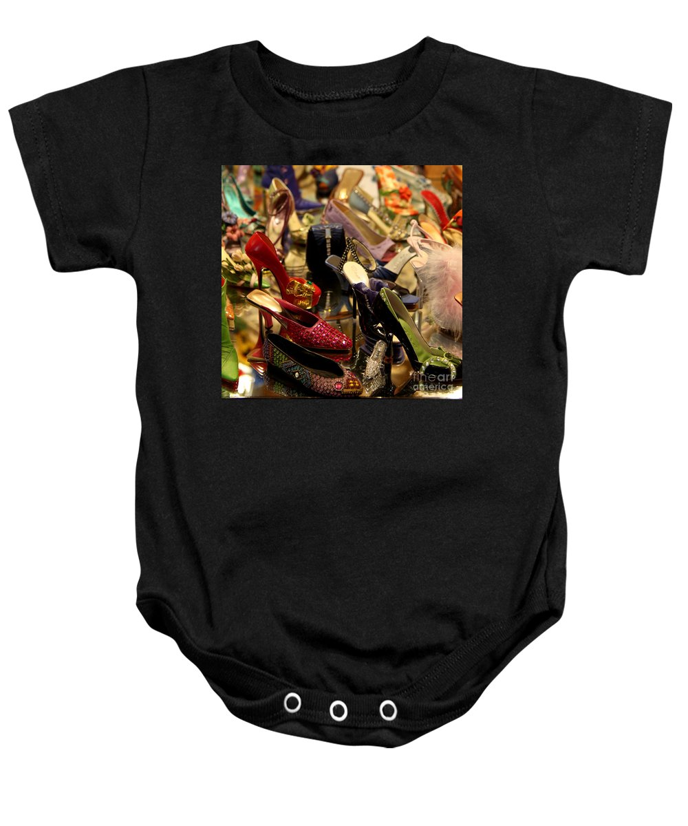 Shoes Baby Onesie featuring the photograph A Women's Dream by Christiane Schulze Art And Photography