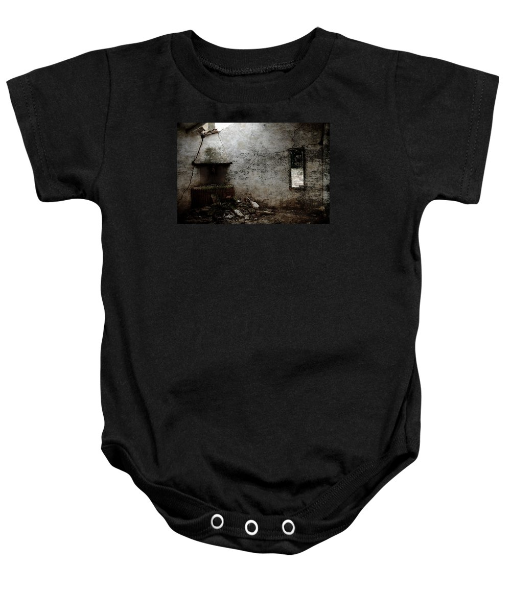 Grunge Baby Onesie featuring the photograph Abandoned Little House 3 by RicardMN Photography