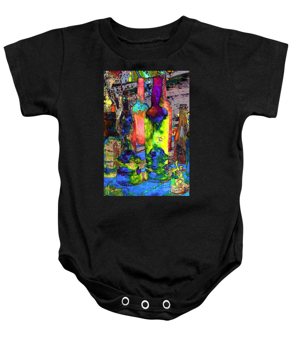 Abstract Baby Onesie featuring the photograph Absynthe Minded by Lauren Leigh Hunter Fine Art Photography