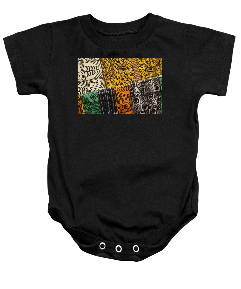 Africa Baby Onesie featuring the photograph African Prints by Michele Burgess