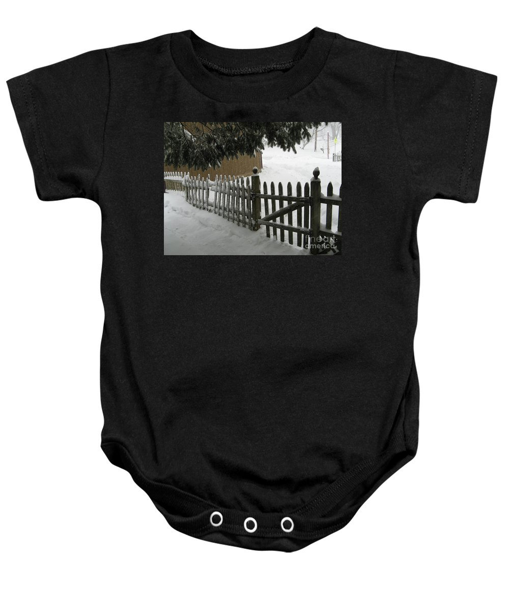 Blizzard Baby Onesie featuring the photograph After The Blizzard by Christopher Plummer