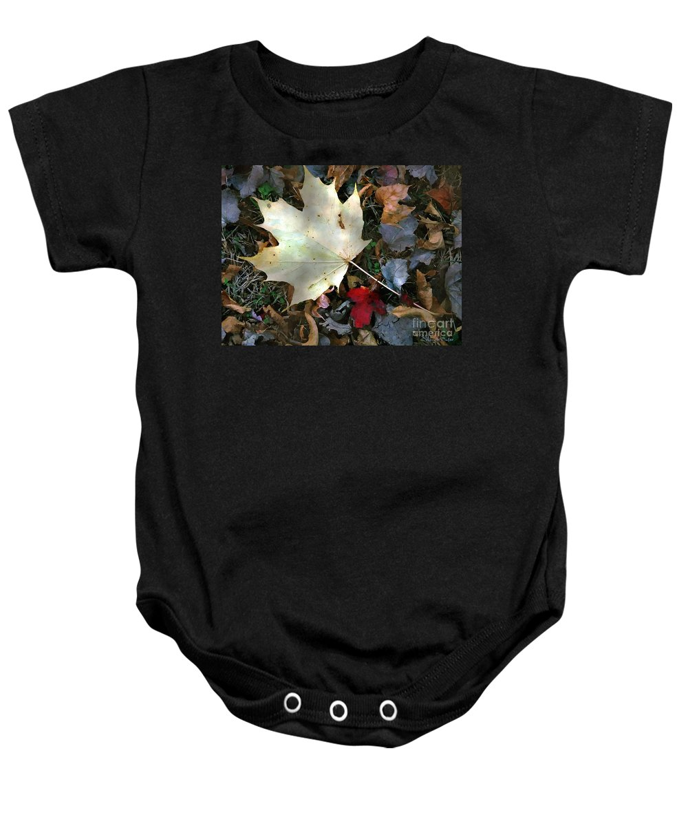 Autumn Baby Onesie featuring the painting After The Frost by RC DeWinter
