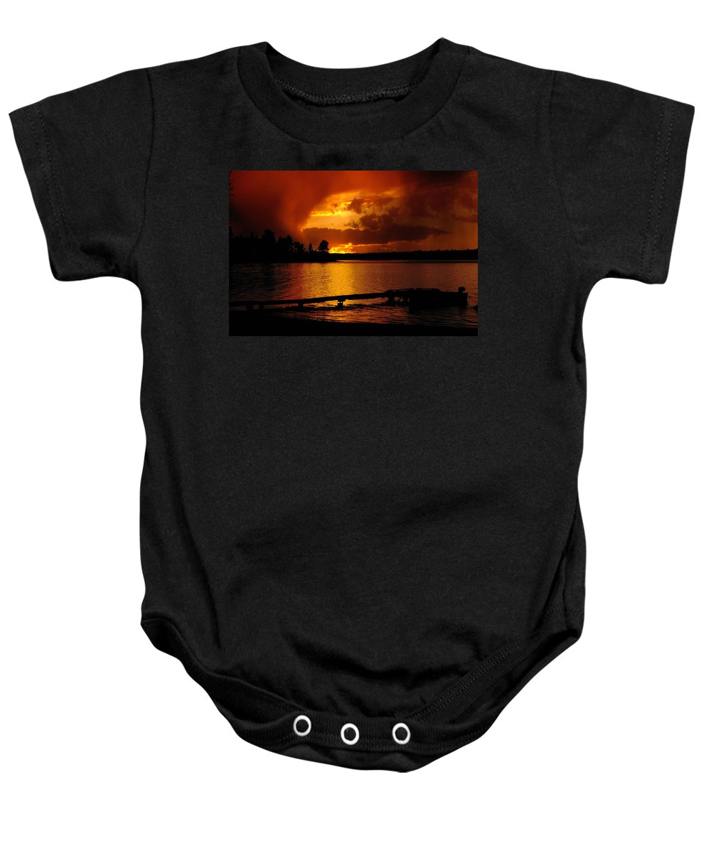 Sunset#1black Knight Holdings � 2011 Baby Onesie featuring the photograph After The Storm by Randy Giesbrecht