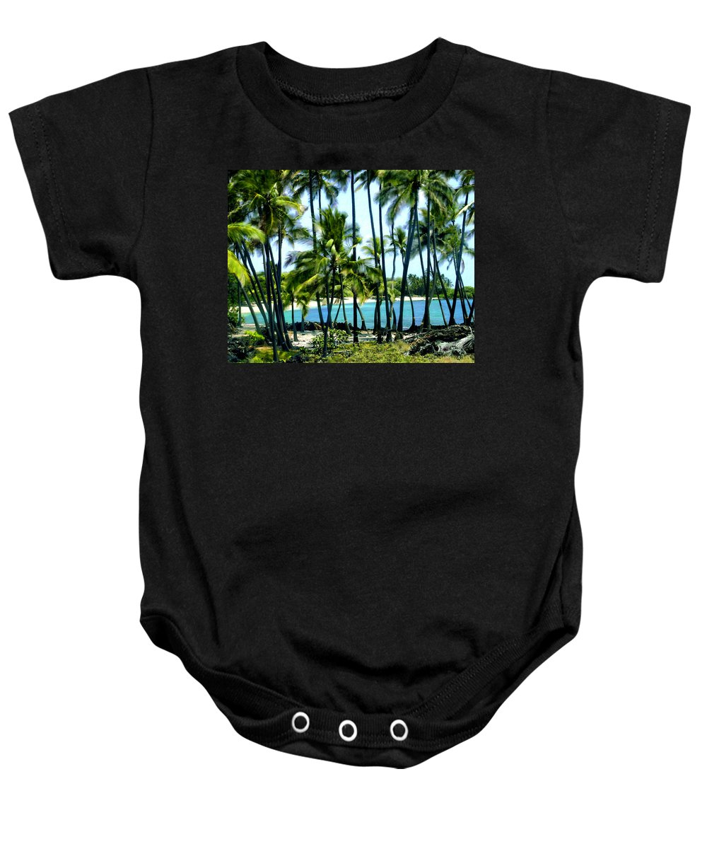 Hawaii Baby Onesie featuring the photograph Afternoon At Kakaha Kai by Kurt Van Wagner