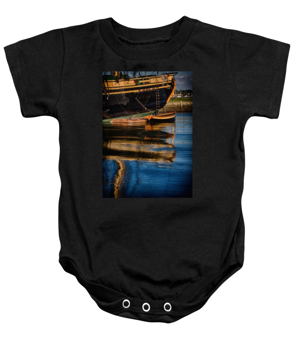 Salem Baby Onesie featuring the photograph Afternoon Friendship Reflection by Jeff Folger